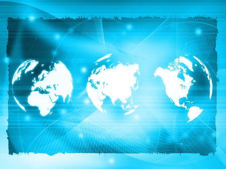 Photo pour world map technology style - image libre de droit