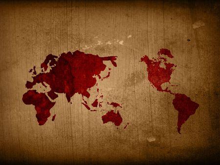 Photo pour world map textures and backgrounds - image libre de droit
