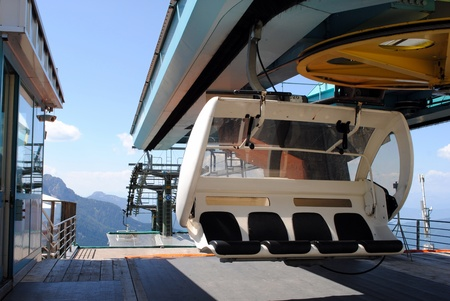 mountain chair  lift with four places for people
