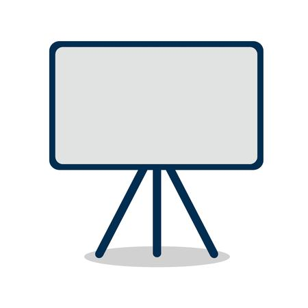 Illustration pour Blackboard flat icon isolated on white background. with shadow. Vector illustration. - image libre de droit