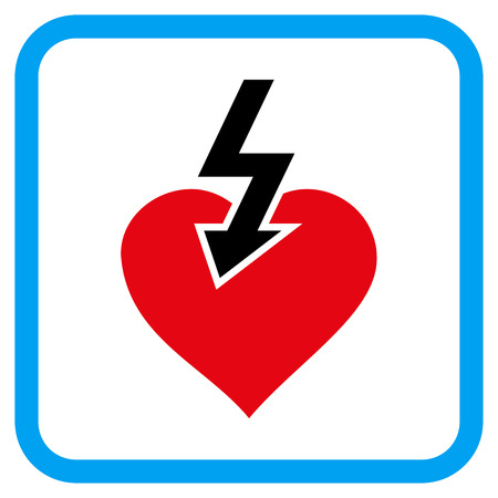 Heart Shock Strike vector icon  Image style is a flat pictograph