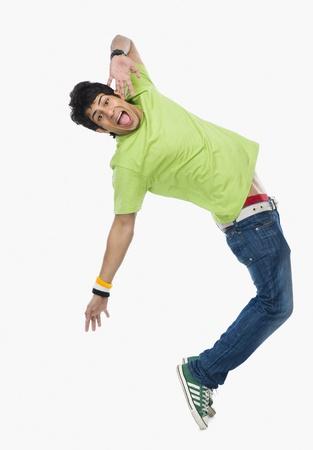 Photo pour Man dancing - image libre de droit