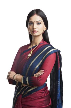 Traditionally Indian woman posing in sari
