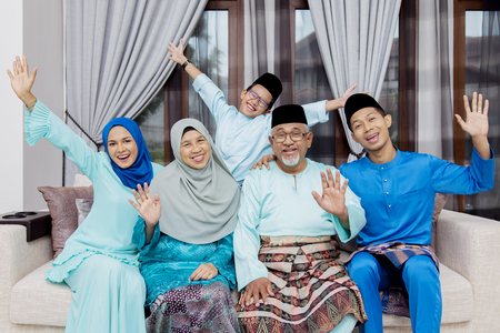 Photo for Happy Muslim family - Royalty Free Image