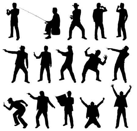 Collection of occupation silhouettes