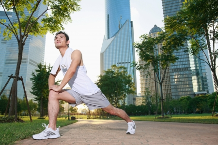 Photo for Man exercising in the park - Royalty Free Image