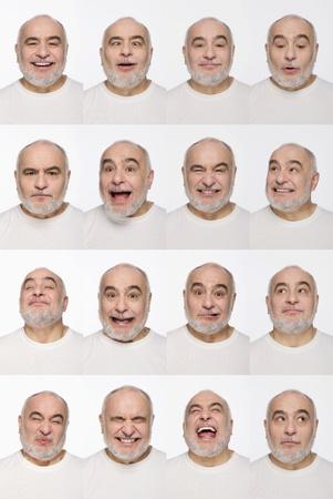 Foto de Montage of man pulling different expressions - Imagen libre de derechos