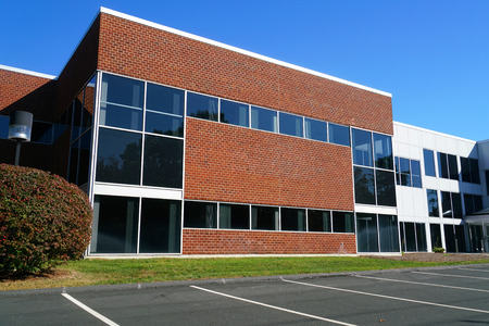 Photo pour Close up on modern company building exterior - image libre de droit