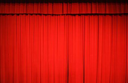 Photo pour red stage curtain background for design - image libre de droit