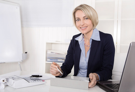 Senior business manager - woman - working as adviser.