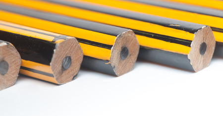 Unsharpened Pencils lined up