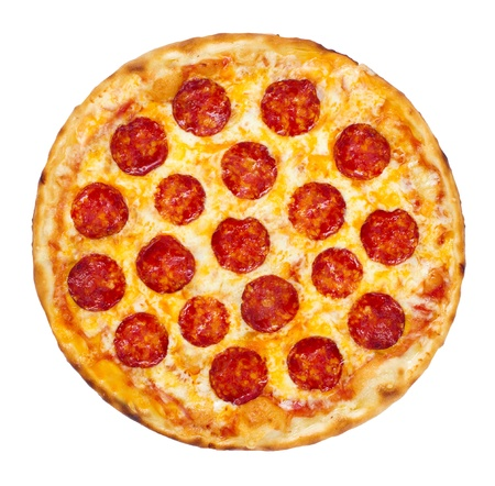 Thinly sliced pepperoni is a popular pizza topping in American-style pizzerias