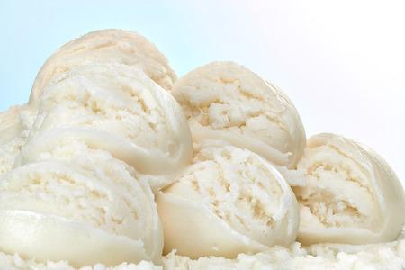 Photo for Vanilla ice cream scoops - Royalty Free Image