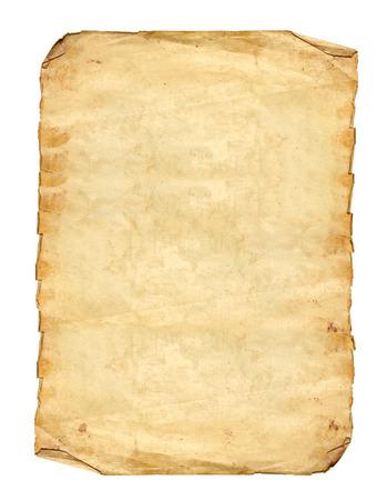 Foto de Old Paper on white background - Imagen libre de derechos