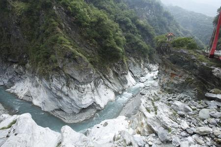 Marble stream erosion