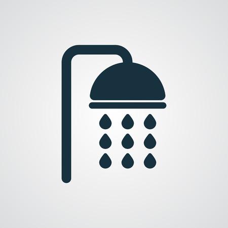 Illustration for Flat Shower icon - Royalty Free Image