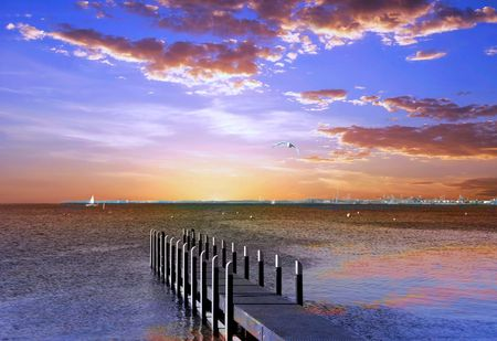 Foto de Sunset Pier - Imagen libre de derechos