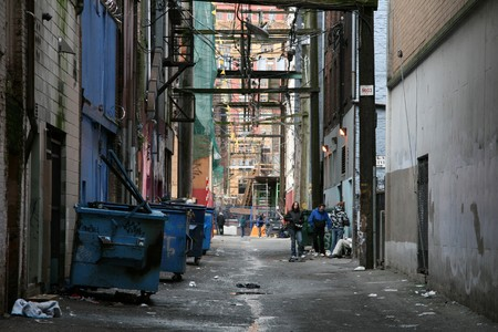 Back Street Alleys in The City of Vancouver, BC, Canada