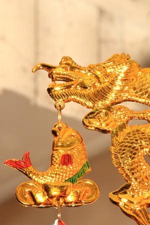 BANGKOK - JANUARY 23 : Chinese New Year 2012 - Golden Dragon in Chinatown, Bangkok, Thailand