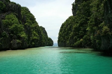 The area of El Nido on Palawan Island in Philippines