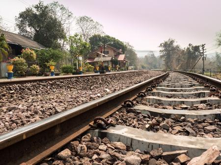 Railway Tracks at Mae Tan Noi Station, Thailand