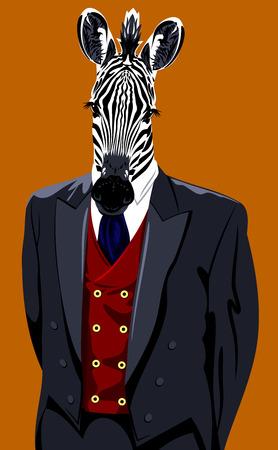 Portrait of a zebra in a man's business suit