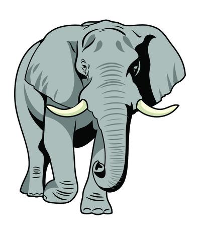 Ilustración de Vector image The majestic elephant - Imagen libre de derechos