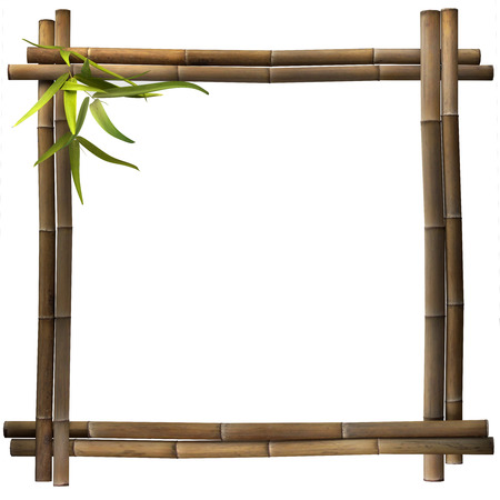 Photo for Bamboo frame brown square - Royalty Free Image