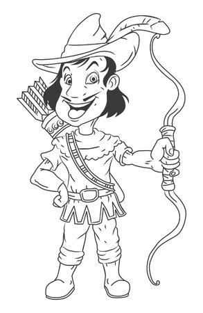 black and white Robin Hood