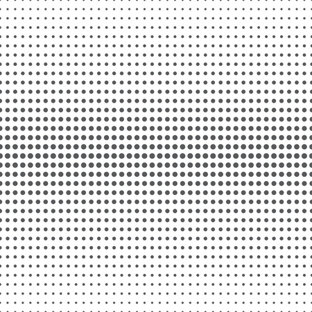 Ilustración de Seamless pattern. Abstract halftone background. Modern stylish texture. Repeating grid with dots of the different size. Gradation from bigger to the smaller. Vector element graphic design - Imagen libre de derechos