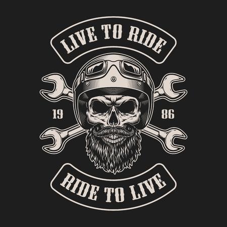 Illustration pour Vintage biker emblem - image libre de droit