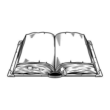 Illustration pour Old vintage book isolated on white. Vector illustration - image libre de droit