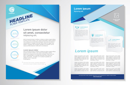 Illustrazione per Vector Brochure Flyer design Layout template.infographic - Immagini Royalty Free