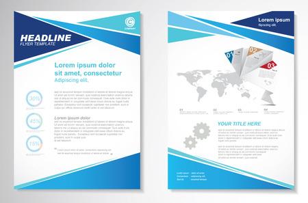 Ilustración de Vector Brochure Flyer design Layout template, size A4, Front page and back page, infographics. Easy to use and edit. - Imagen libre de derechos