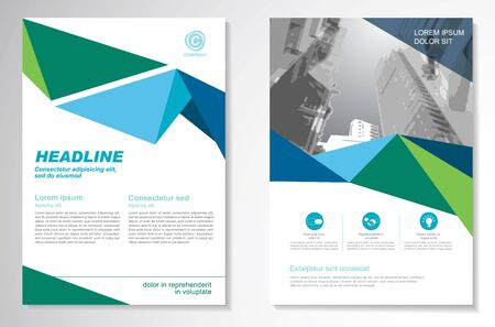 Illustration for Vector Brochure Flyer design Layout template, size A4, Front page and back page, infographics. Easy to use and edit. - Royalty Free Image