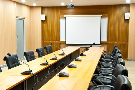Business meeting room or board room interior