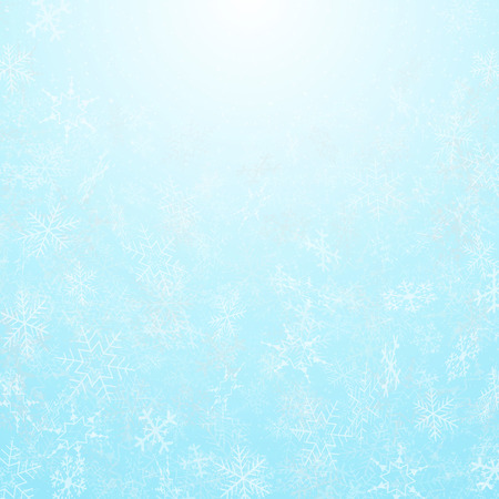 Illustration for Abstract of christmas festival snowflakes with sky background, vector eps10 - Royalty Free Image