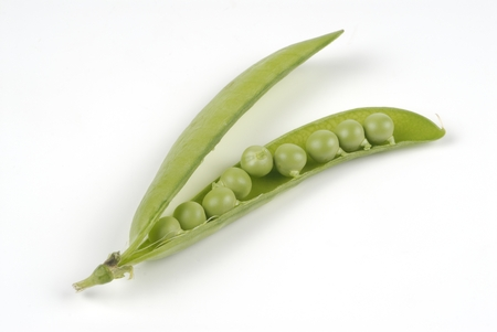 peas in the studio on white background