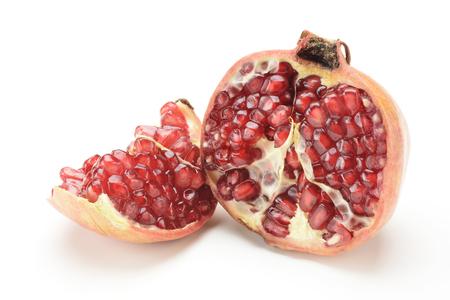 Pomegranate on white background, fruit