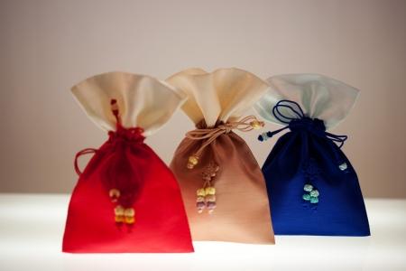 Traditional accessory Lucky bag in south korea.Bokjumeoni