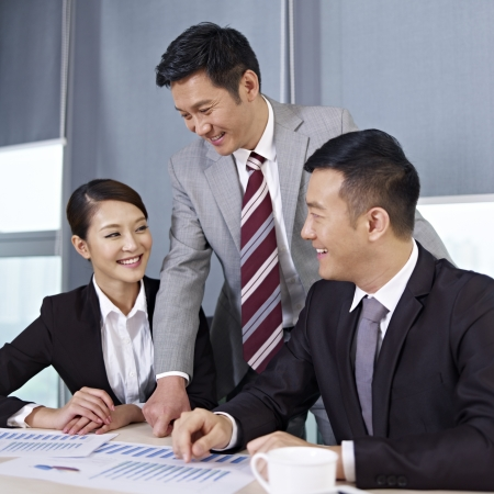Photo for asian business people discussing business in office  - Royalty Free Image