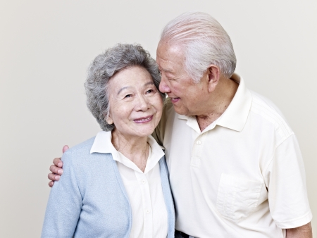 portrait of a senior asian couple の写真素材