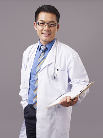 Photo for studio portrait of an asian doctor. - Royalty Free Image