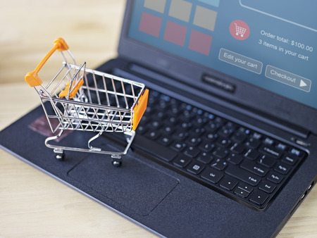 e-commerce concept: online shopping