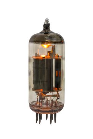 Vacuum tube triode-pentode 6F4P on the white background