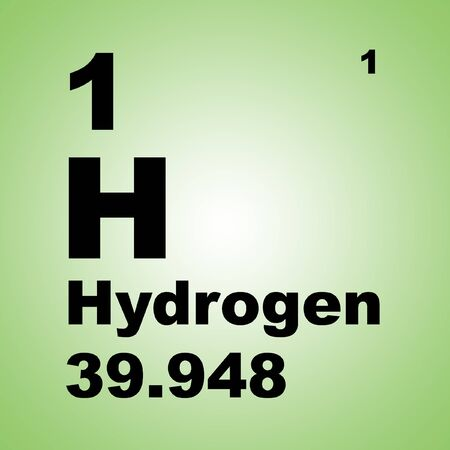 Photo for Hydrogen is a chemical element with chemical symbol H and atomic number 1. - Royalty Free Image