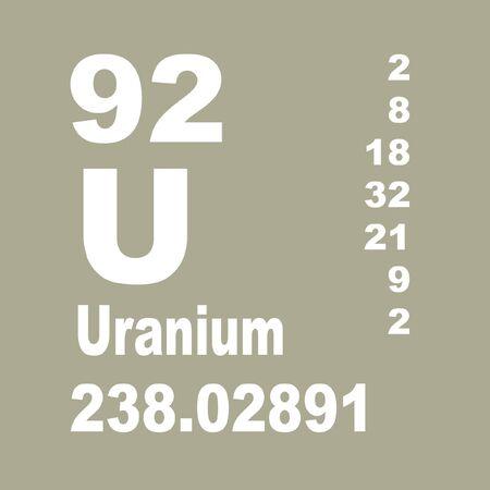 Photo pour Uranium is a chemical element with symbol U and atomic number 92. - image libre de droit