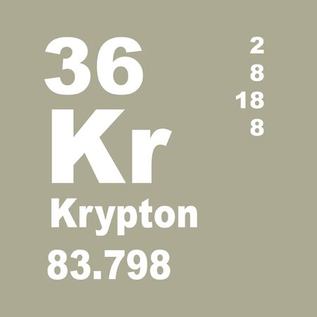 Krypton is a chemical element with the symbol Kr and atomic number 36. It is a member of Group 18 and Period 4 elements