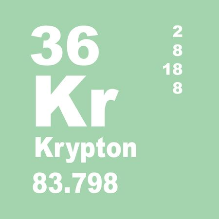 Photo pour Krypton is a chemical element with the symbol Kr and atomic number 36. It is a member of Group 18 and Period 4 elements - image libre de droit