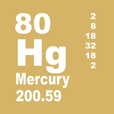 Photo pour Mercury is a chemical element with symbol Hg and atomic number 80. - image libre de droit